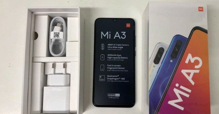 Xiaomi Mi A3 Real Images and Boxing