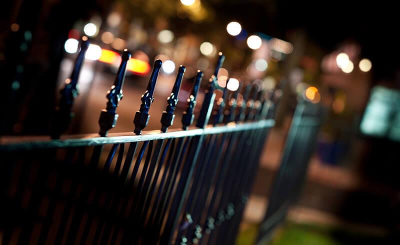 bokeh fence