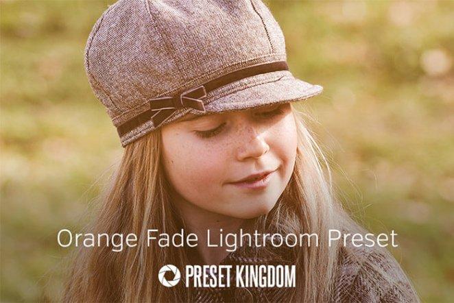 Orange Fade Lightroom Preset