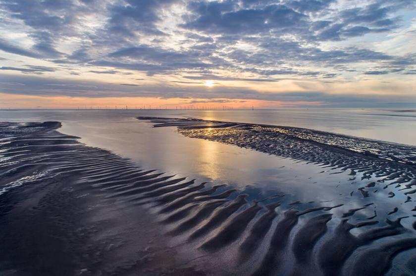 Sand flats zonsondergang