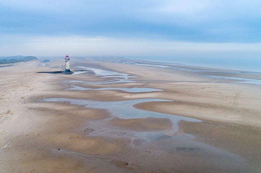 Het strand van Talacre