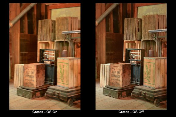 Example of Image Stabilization with photo of crates