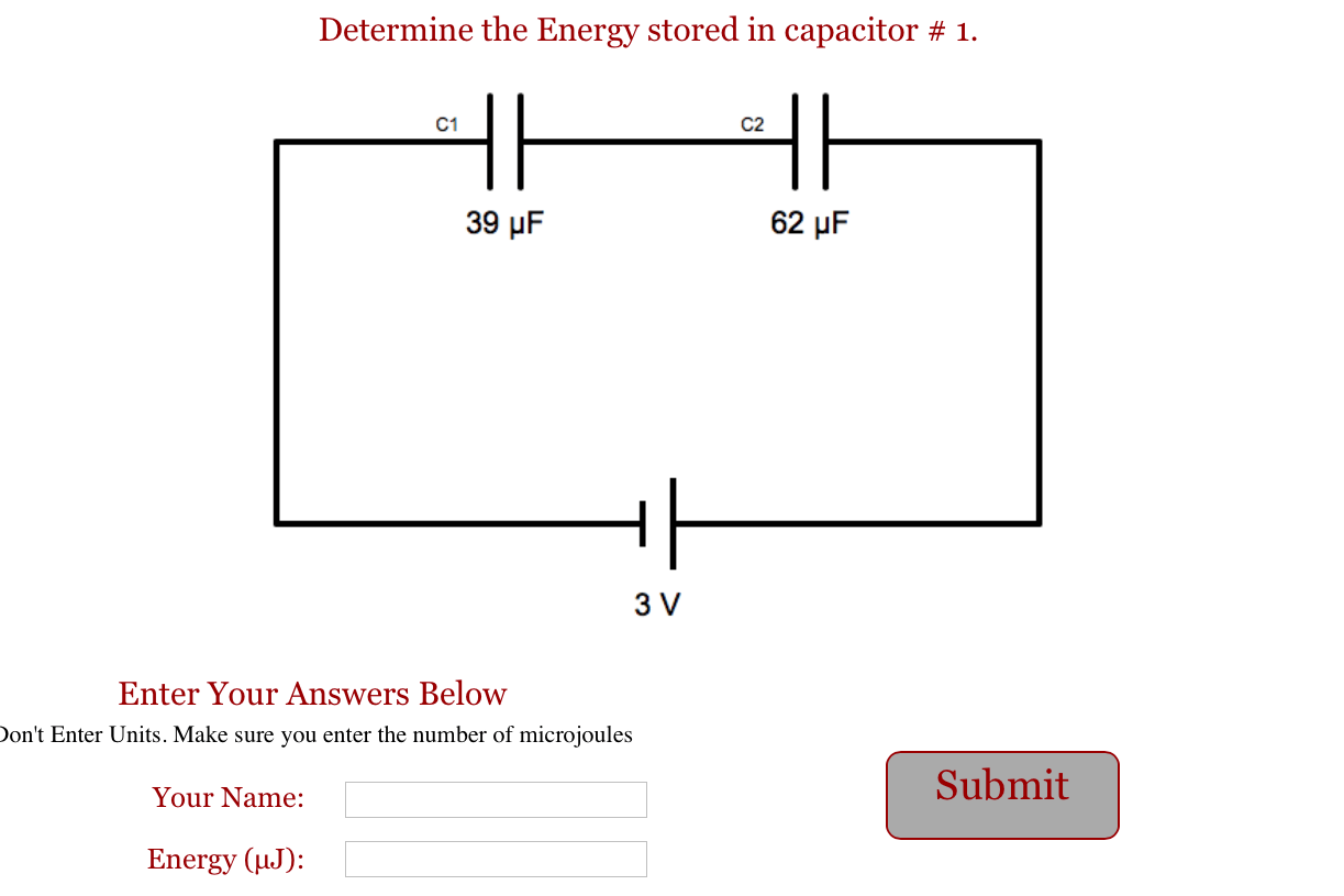Energy In A Capacitor Circuit Capacitorcircuit