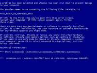 Blue Screen Of Death, Windows blue screen, windows death