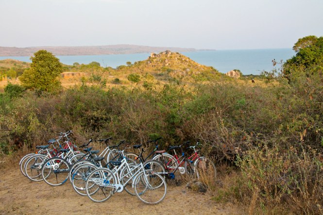 biking around lake victoria at ekewere island, tanzania