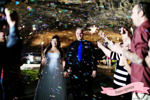 Pink Wedding Bubbles