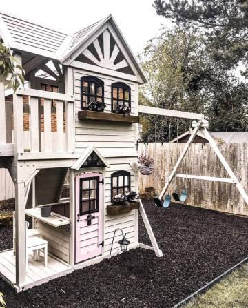 Kids Outdoor Playhouses From Instagram, Girls Outdoor Playhouse
