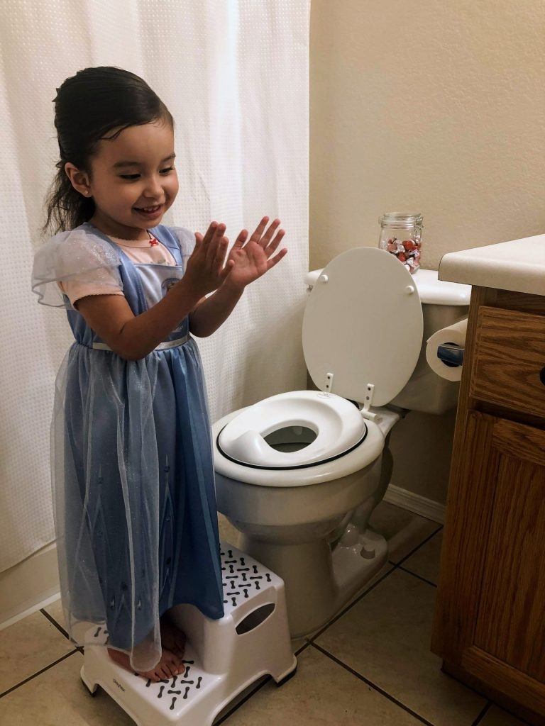 Potty training set up for my two year old girl