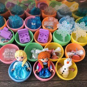 Easter egg hunt filled eggs