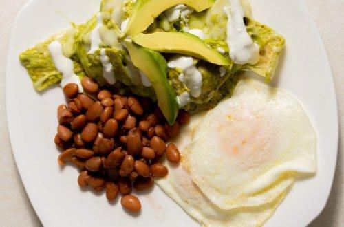 Chilaquiles verdes for brunch