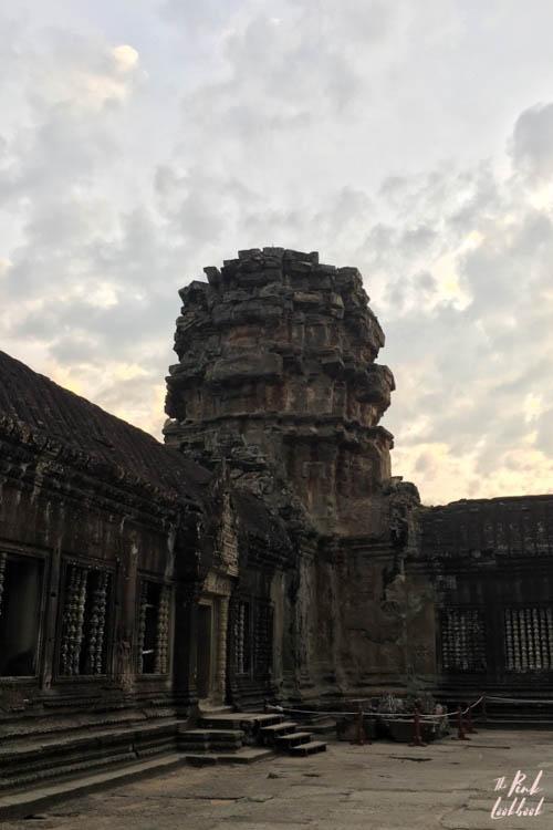 Angkor Wat Broken Tower Sunrise