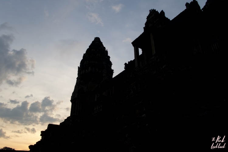 Angkor Wat Tower Perspective Sunrise Silhouette