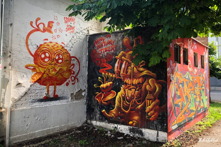 Street Art Zagreb Orange Monsters