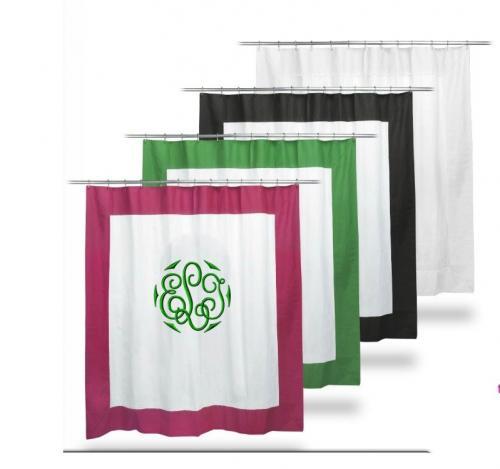 Monogram Shower Curtains Sale