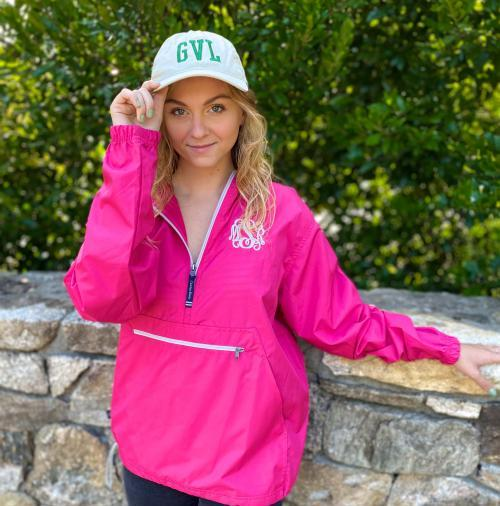 The Pink Monogram Rain Jacket