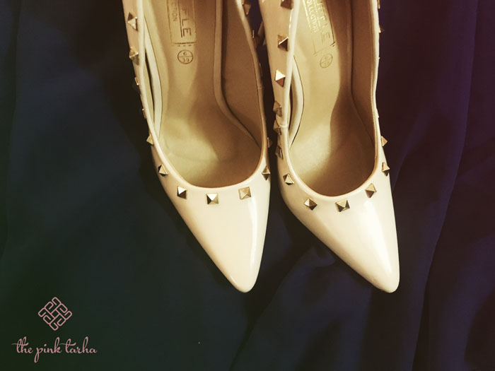 Truffle Studded Pointy Pumps, SR 140