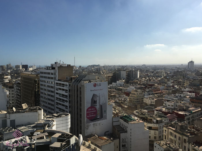 "Casablanca, which means ""White House"", is a busy city teeming with buildings and people."