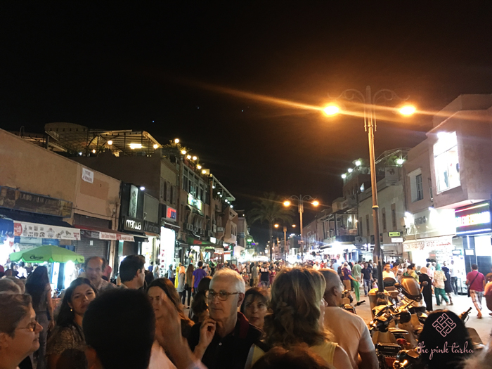 The street leading to Djemaa El Fna at night. So many people!