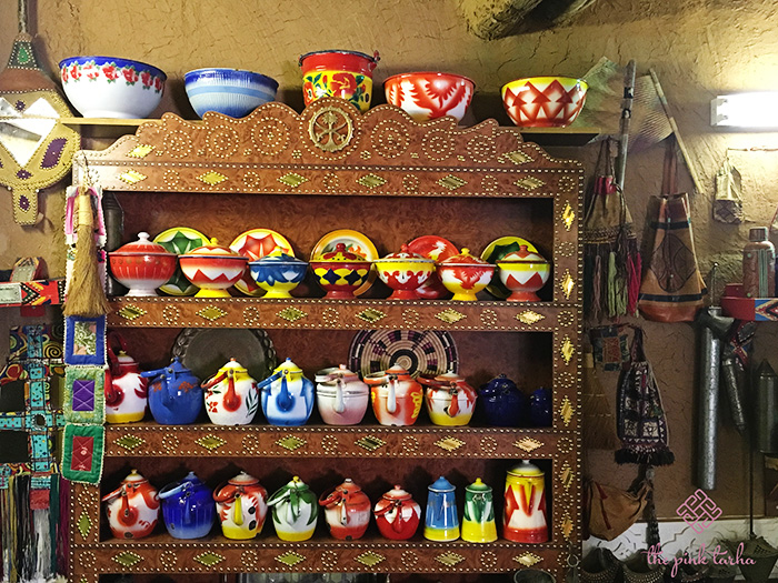 How colorful are these containers, bowls, teapots, etc.
