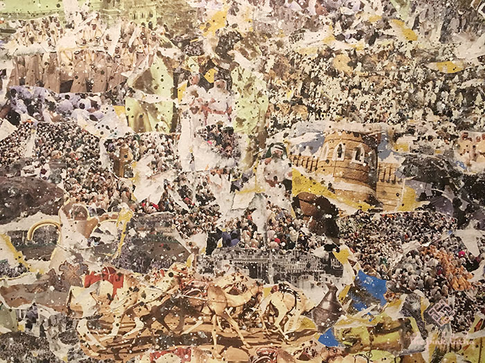 Up close: Some Arab references on the big collage.