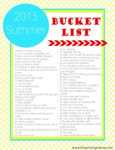 2013 Summer Bucket List ~ Summer Ideas and Activities for Kids by www.thepinningmama.com