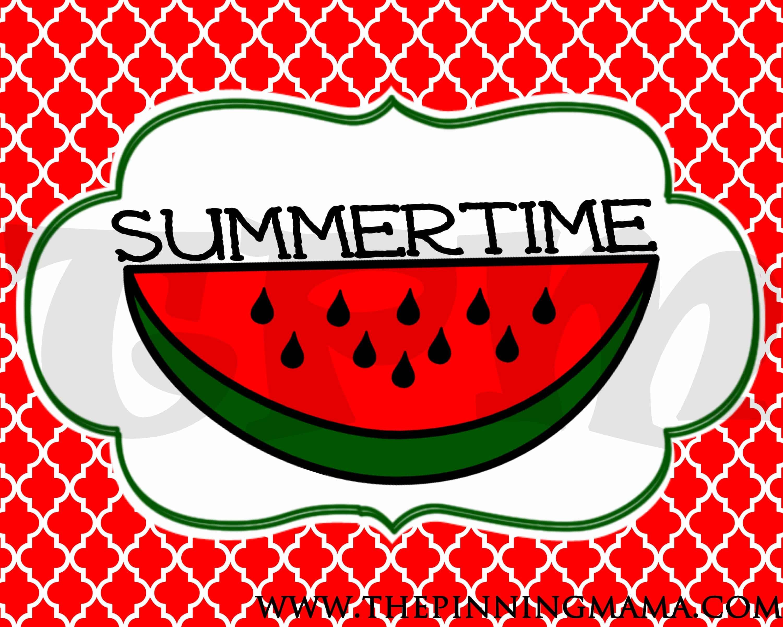 Free Summer Printable Summertime Word Art Decor The