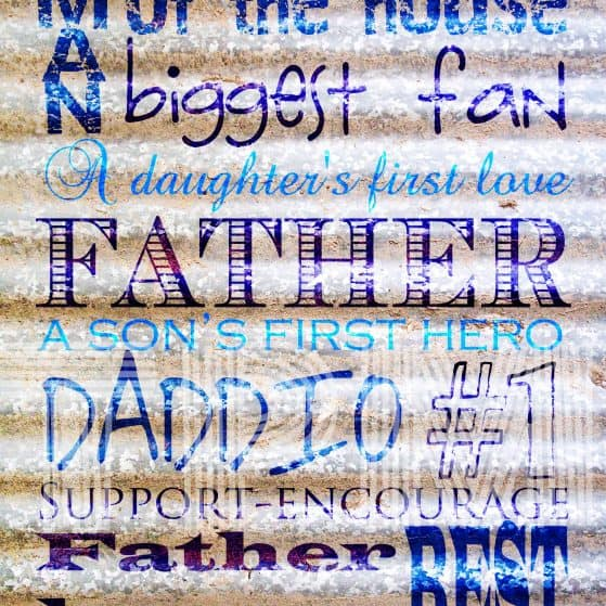 Free Father's Day Printable Subway Art