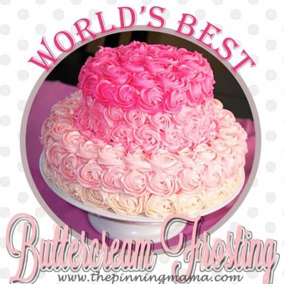 Easy Buttercream Frosting- Click Here for Recipe! www.thepinningmama.com