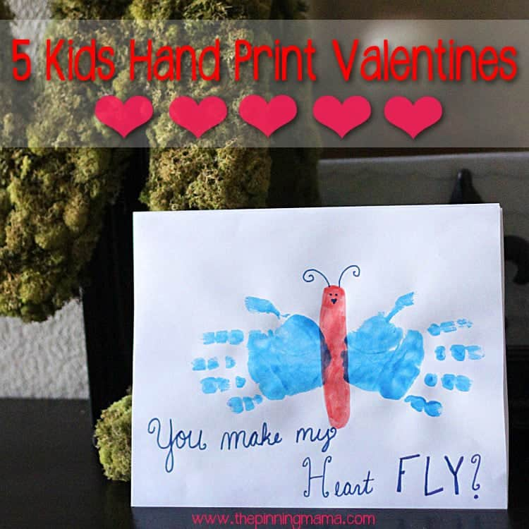 Kids Hand Print Valentine Ideas - Click here to see all!