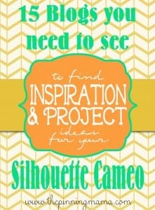 15 Blogs you need to see for great Silhouette Cameo Inspiration and Project Ideas!