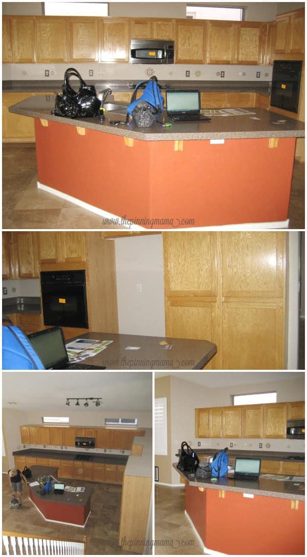 My UGLY kitchen before the remodel- See how much it changed for under $500!