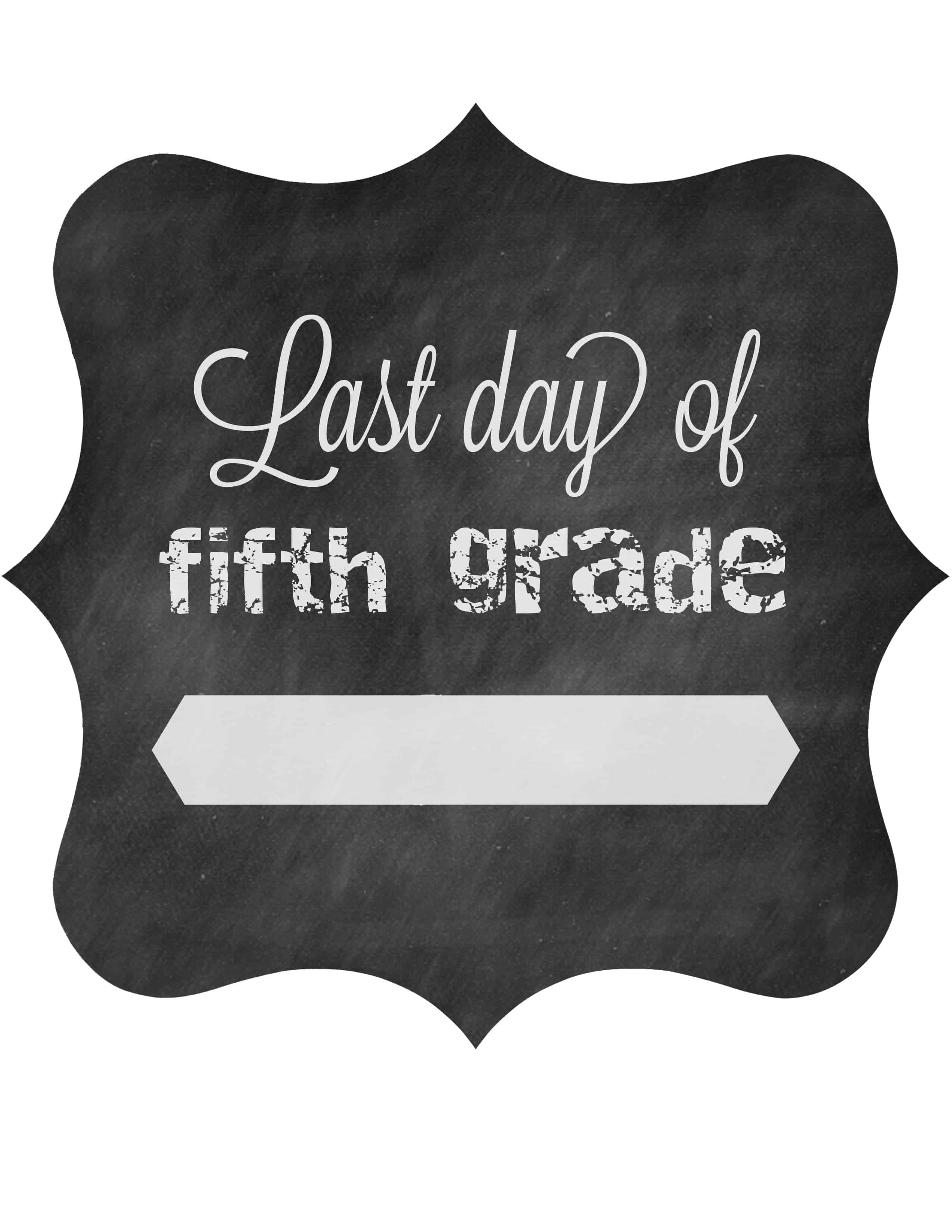 Free Printable Last Day Of School Signs The Pinning Mama
