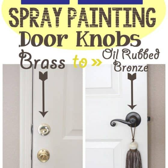 Painting Brass Door Knobs: Did it last after 2 years? See it here!