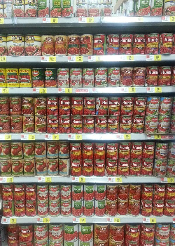 SO may choices of Hunt's Diced Tomatoes!