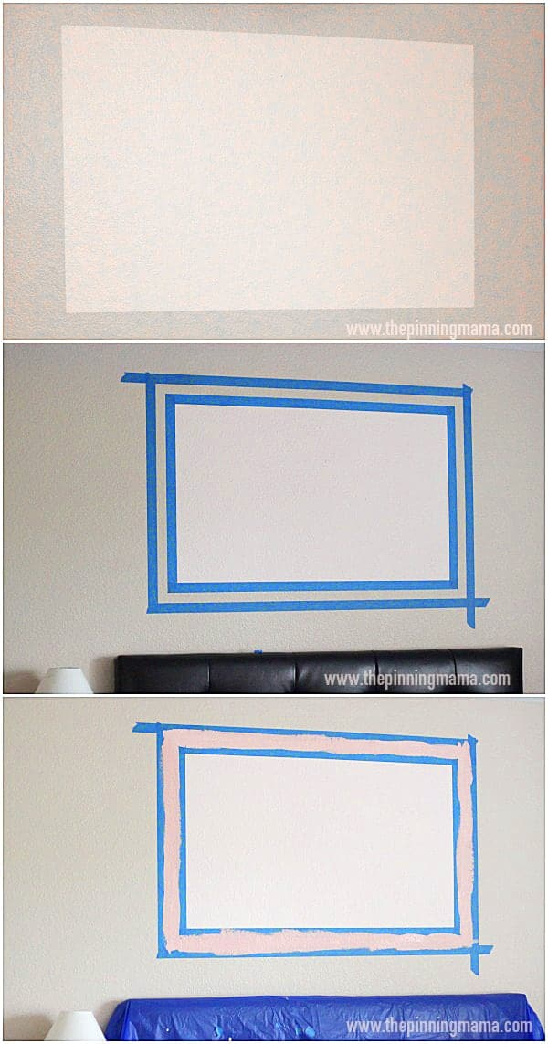 How to paint a frame on the wall 3