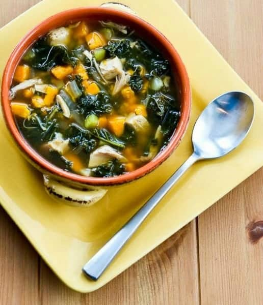 Slow Cooker Turkey Soup with and Sweet Potatoes
