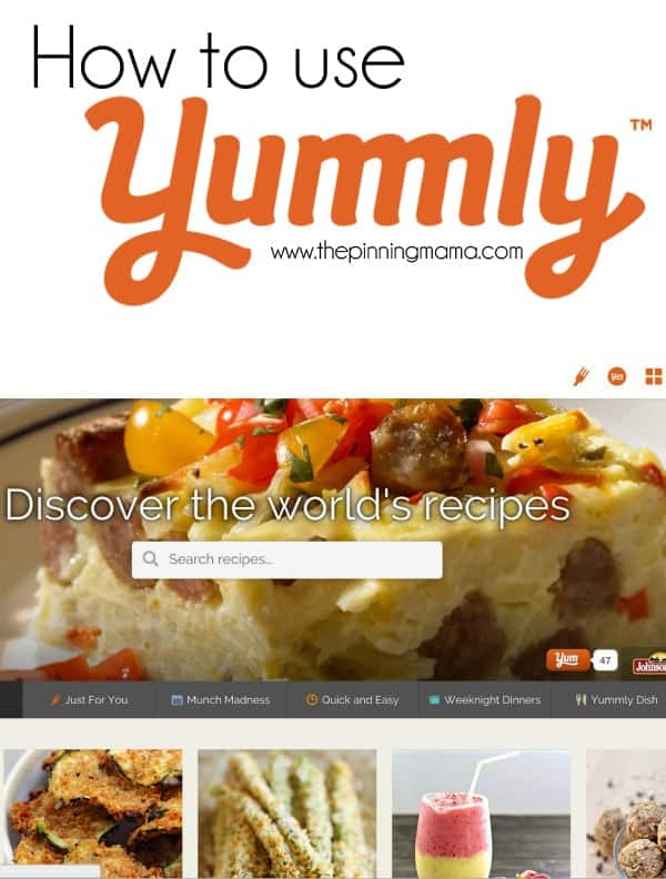Yummly is such an easy way to find new recipes and organize them online!