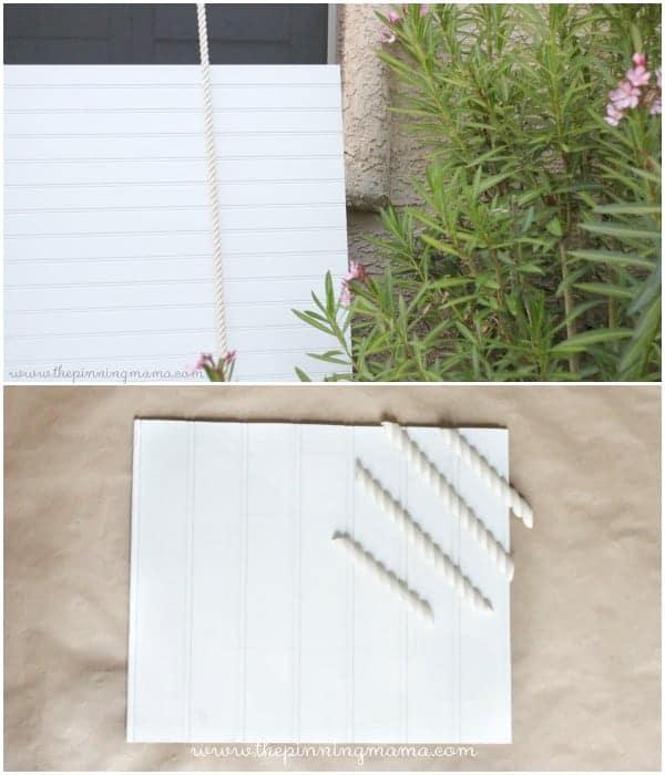 How to make a shabby chic beadboard photo frame