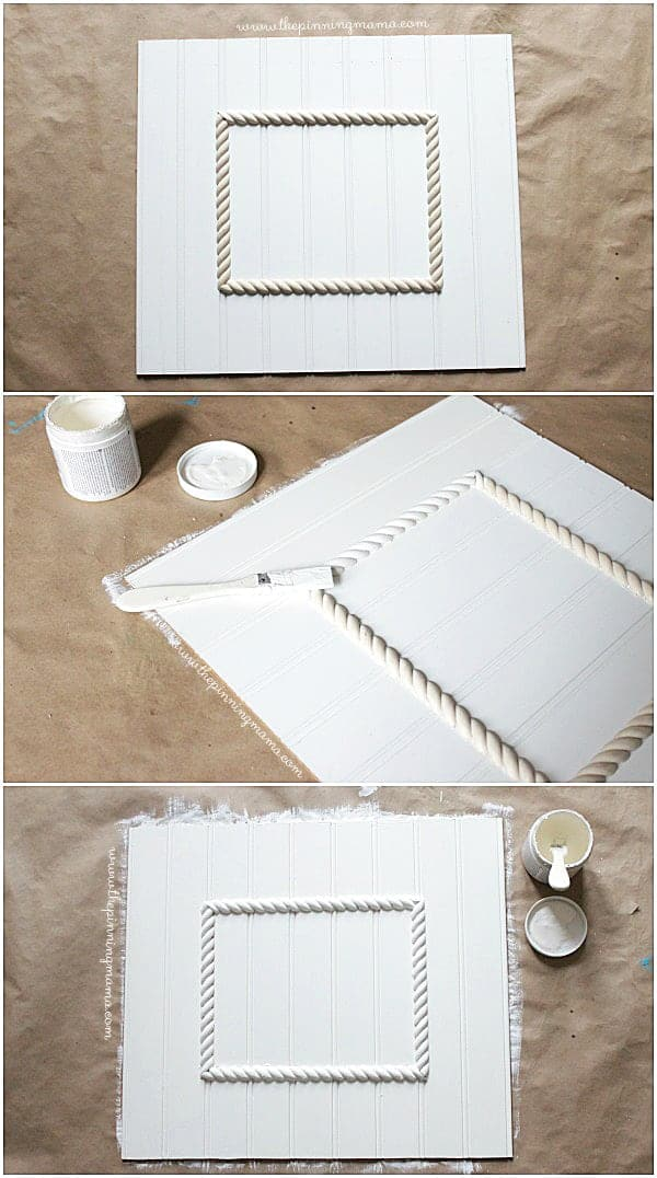 Easy DIY Beadboard Picture Frame