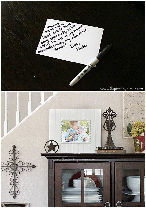 Add a personal note to the back of  pictures for  a meaningful gift!