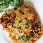 Healthy Enchilada Chicken Bake - Seriously delicious dinner idea!