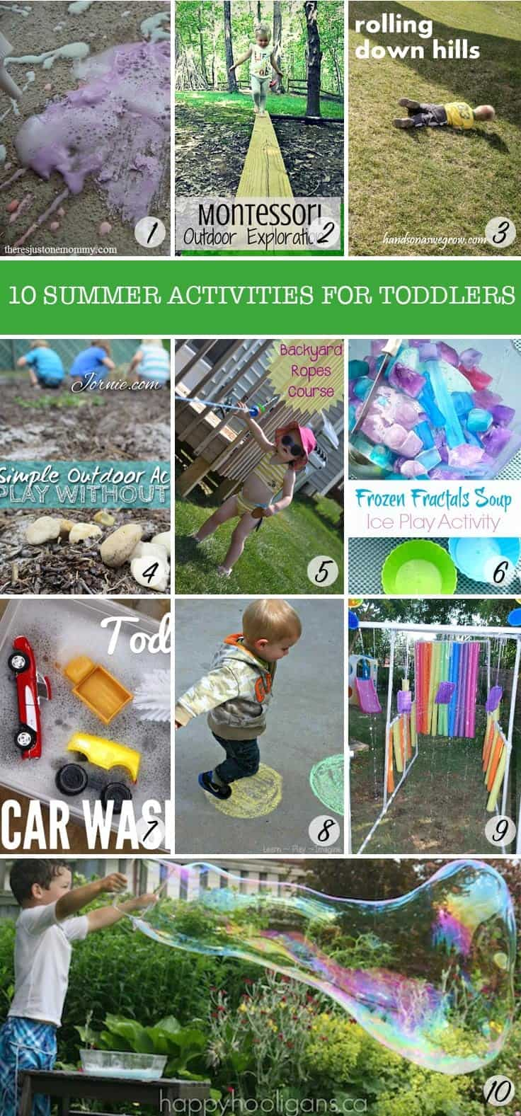 Wow - so many great ideas to get my toddlers outdoors this summer!