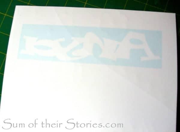 printed onto scrap book paper