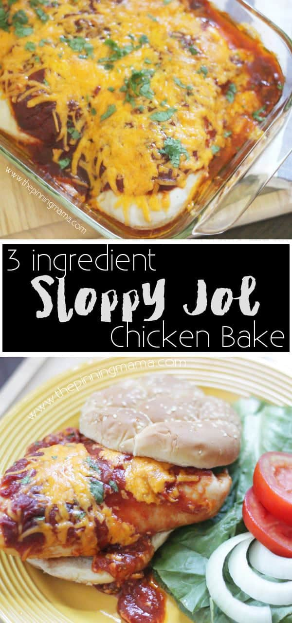 Sloppy Joe Chicken Bake- love this healthy makeover of one of my favorite comfort food recipes!