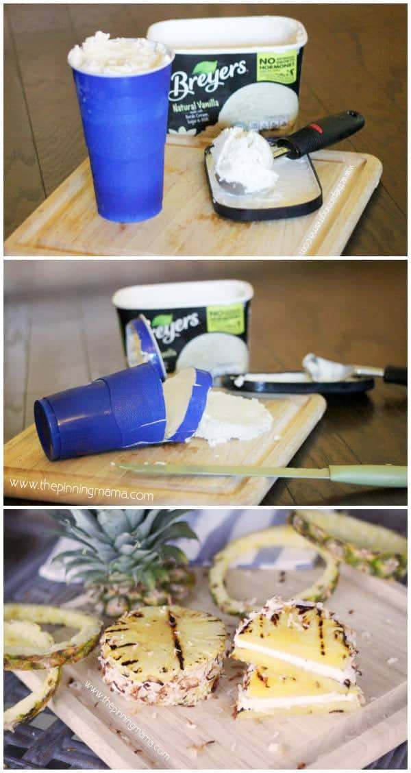 What a cool way to make ice cream sandwiches! Tropical Ice Cream Sandwich by The Pinning Mama