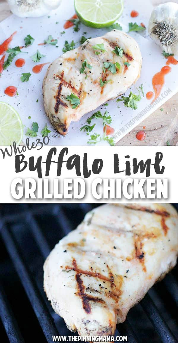 Buffalo lime marinade recipe is perfect for grilling out! Plus it is gluten free, paleo and whole30 so everyone can eat it!