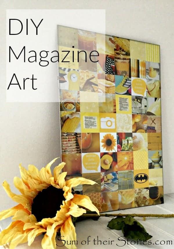 DIY magazine art