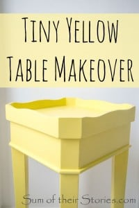 yellow tiny table makeover