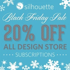 Black Friday 2015 - Silhouette Design Store Discount- Coupon CODE PINNING