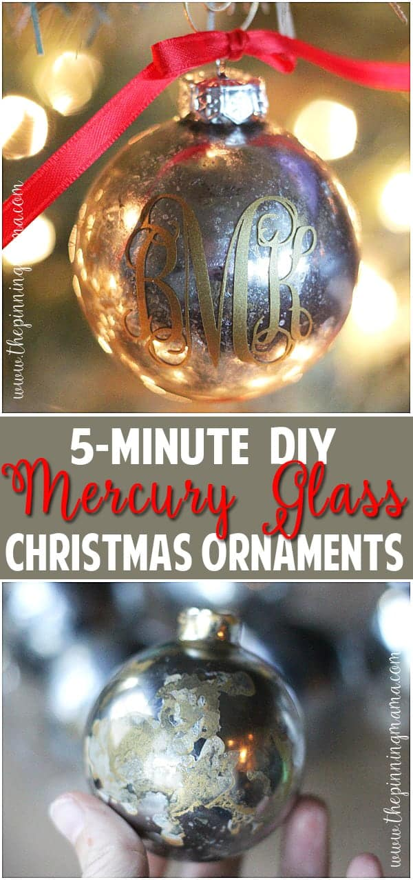 The BEST step by step tutorial on how to get a mercury glass finish.  The way she shows is so easy snd really does only take about 5 minutes! Such an easy christmas craft project!